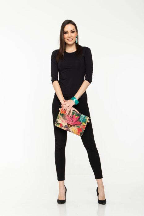 Szelina póló - fekete