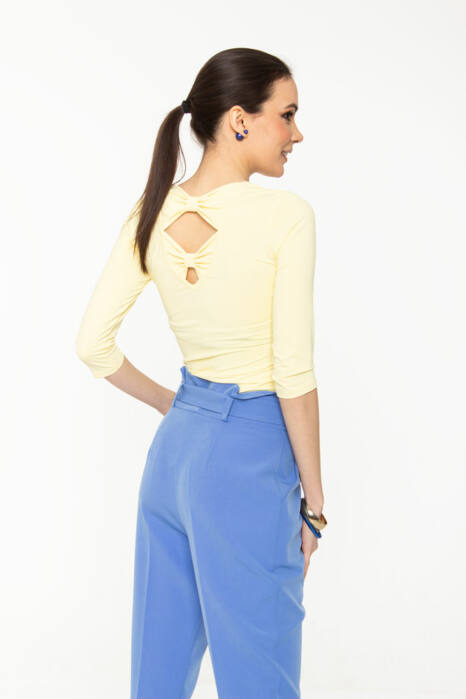 Szelina póló - pasztell sárga