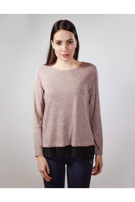 Letti masnis pulóver - mályva