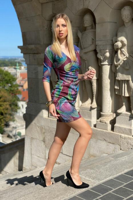 Enikő ruha - lila alaptónus