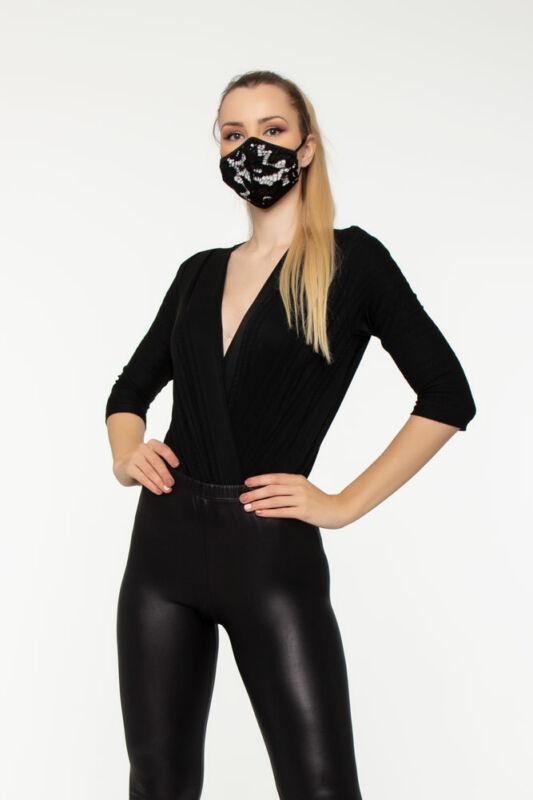 MYA Fashion - Csipkés maszk - Fehér