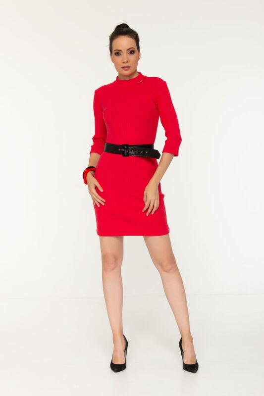 Monic garbós ruha - Piros