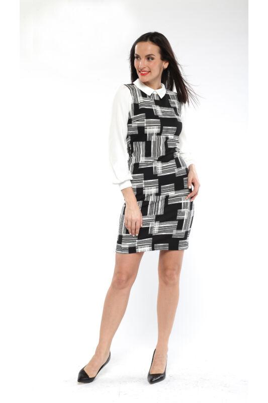 Galléros, testhezálló, hosszúujjú ruha