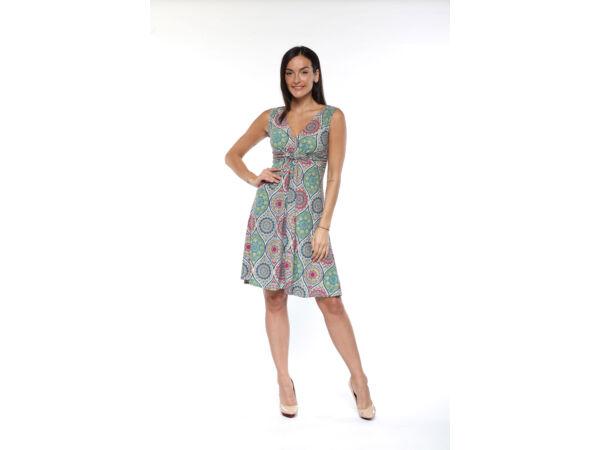 Csavart elejű, térdig érő mandala mintás ruha