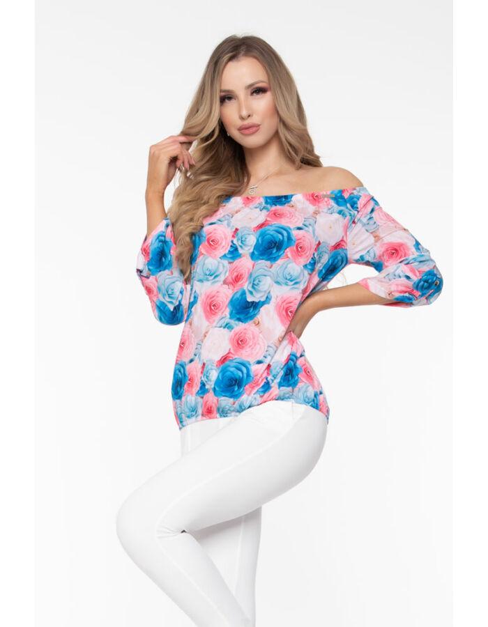 Trixi gumisnyakú blúz - virágos