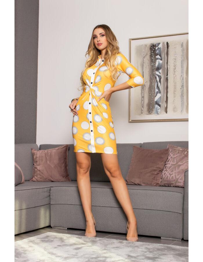 Héra ruha - sárga alapon mintás