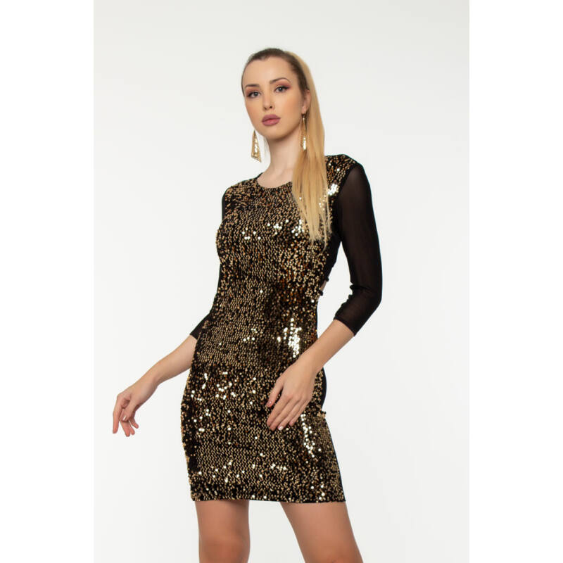 Miranda sokpántos ruha  - Arany flitter