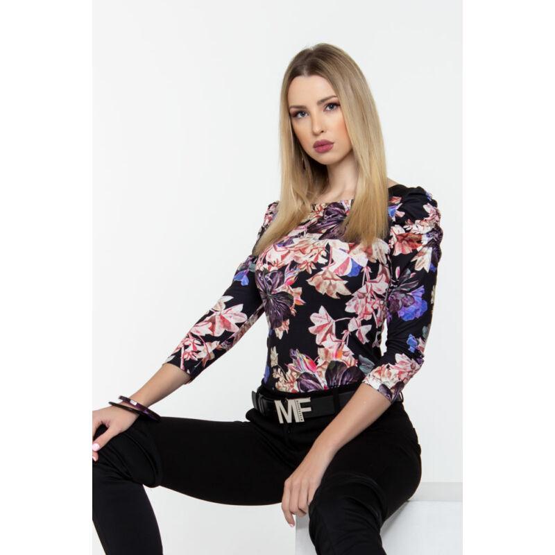 Dorka póló - virágos mintás
