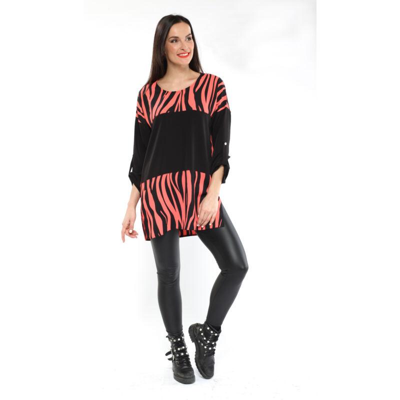 Zebra mintás tunika - rózsaszín